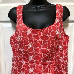 Nine West Pink Floral Embroidered Dress.